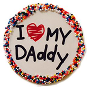 """I Love My Daddy"" Sugar Cookies With Nonpareils"