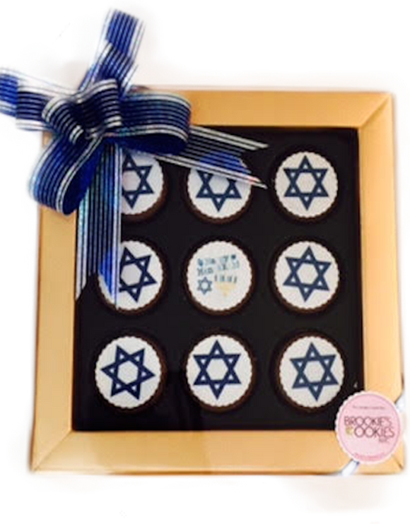 Mini Chocolate Covered Oreo Hanukkah Gift Box
