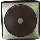 """I Love You"" Chocolate Record"