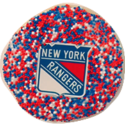 NY Rangers Sugar Cookies with Sprinkles