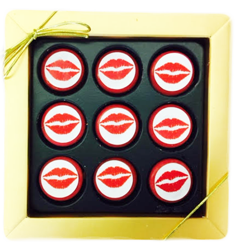 Red Lips Mini Chocolate Covered Oreos Gift Box