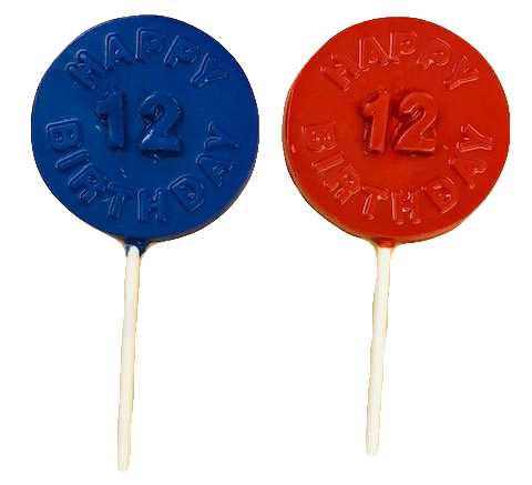 Custom Birthday Chocolate Lollipops