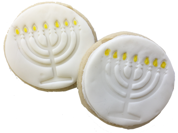 Menorah Sugar Cookies