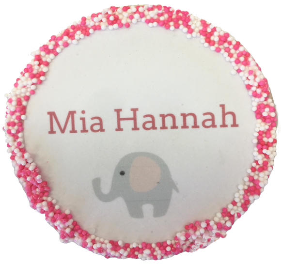 Custom Baby Name Cookies with Nonpareils