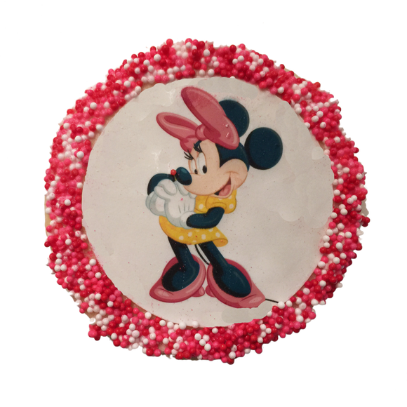 Minnie Mouse Sugar Cookies with Nonpareils