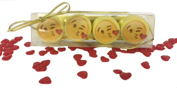 Kiss Emoji Mini Chocolate Covered Oreos