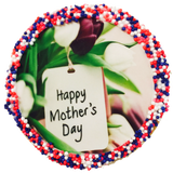 """Happy Mother's Day"" Sugar Cookies With Nonpareils"