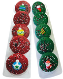 Chocolate Covered Oreos with Christmas Toppers - Gift Box