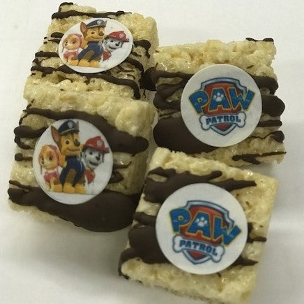 Paw Patrol Mini Rice Krispy Treats with Logo