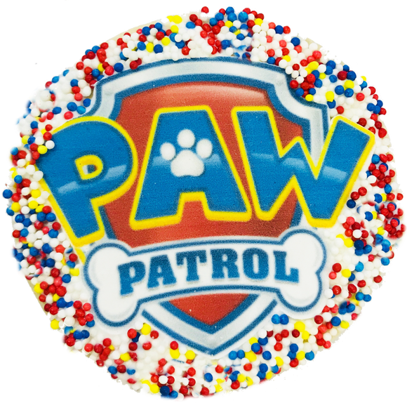 Paw Patrol Sugar Cookie with Nonpareils