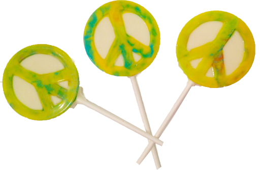 Chocolate Peace Sign Lollipops