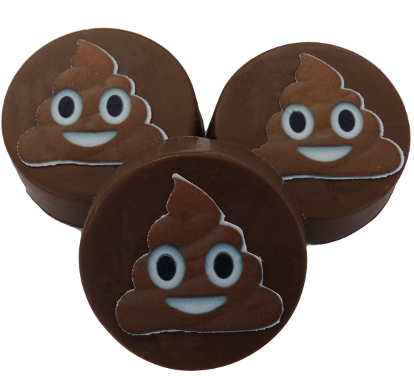 Poop Emoji Mini Chocolate Covered Oreos