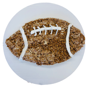 Rice Krispy Treat Football