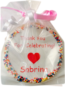 "Custom ""Thank You For Celebrating"" Cookie"