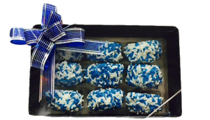 Hanukkah Chocolate Covered Cookie Sandwiches