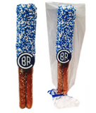 Chocolate Covered Pretzel Rods With Sprinkles/Logo