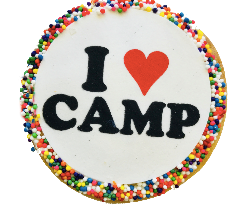 I Love Camp Sugar Cookies with Nonpareils