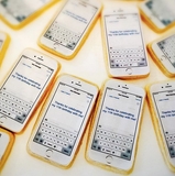 "Custom ""Text Message"" Sugar Cookies"