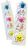 White Chocolate Covered Oreos with Candy Skull Topper