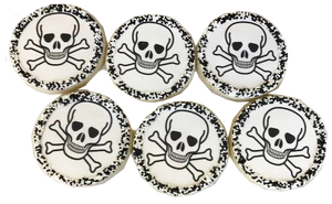 Skull Sugar Cookies with Nonpareils