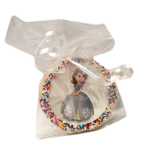 Sofia the First Sugar Cookies with Nonpareils