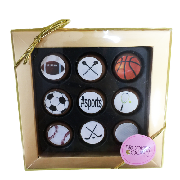 Mini Chocolate Covered Oreos Sports Box