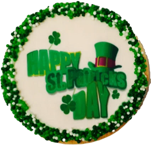 """Happy St. Patrick's Day"" Sugar Cookies"