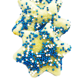 Star of David Mini Sugar Cookies With Nonpareils