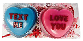 Chocolate Covered Oreo Conversation Hearts 2 Pack
