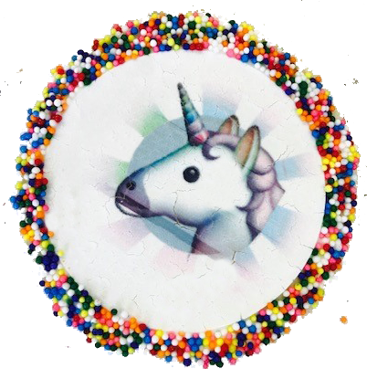 Unicorn Sugar Cookies with Nonpareils