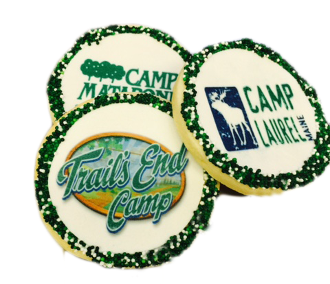 Customized Camp Logo Sugar Cookies