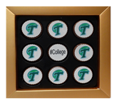 Customized College Logo Mini Chocolate Covered Oreos Gift Box