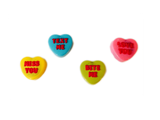 Chocolate Covered Oreo Conversation Hearts 4 Pack