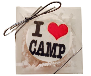 """I Love Camp"" Chocolate Covered Oreo"