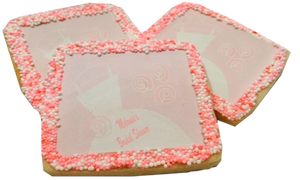 Custom Bridal Shower Sugar Cookie With Nonpareils
