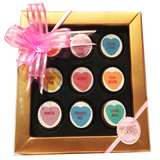 Conversation Hearts Mini Chocolate Covered Oreos Gift Box