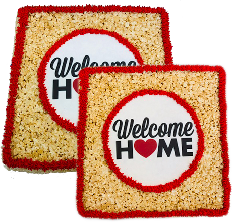 Rice Krispy Welcome Home Cake