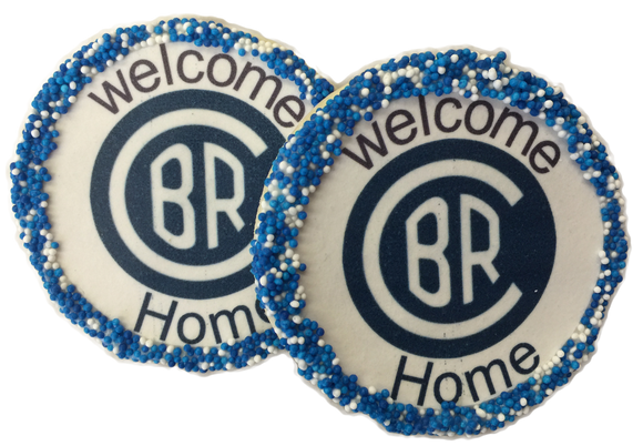 Customized Camp Logo Welcome Home Sugar Cookies