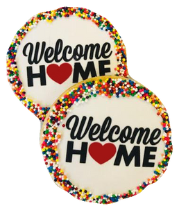 Welcome Home Sugar Cookies with Nonpareils