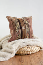 Handwoven Kilim Throw Pillow - Bali - 18x18