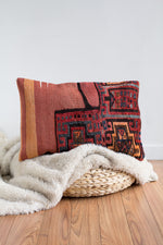 Handwoven Kilim Throw Pillow - Persia - 16x24