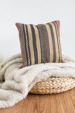 Handwoven Kilim Throw Pillow - Sailor  - 16x16