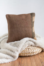 Handwoven Kilim Throw Pillow - Toprak - 16x16