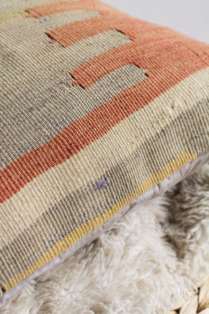 Handwoven Kilim Throw Pillow - Sivas - 16x16