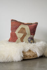 Handwoven Kilim Throw Pillow - Anatolia - 16x16