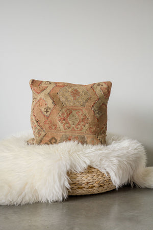 Handwoven Kilim Throw Pillow - Avsar - 16x16