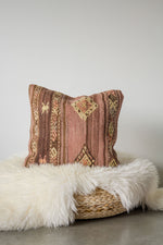 Handwoven Kilim Throw Pillow - Jaff - 18x18