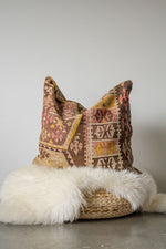 Handwoven Kilim Throw Pillow - Maras Large - 24x24