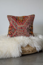 Handwoven Kilim Throw Pillow - Ottoman - 16x16