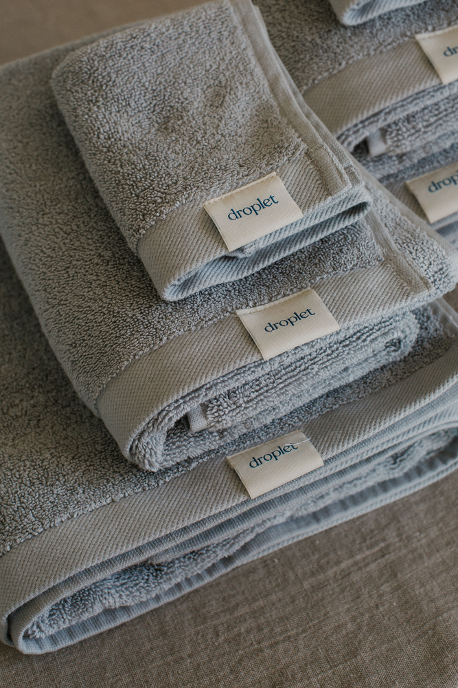 grey organic cotton towels from Turkey